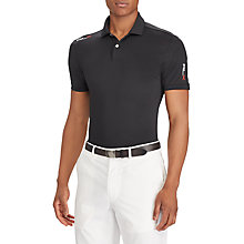 Buy Polo Golf by Ralph Lauren Short Sleeve Lightweight Airflow Polo Shirt, Polo Black Online at johnlewis.com