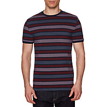Buy Original Penguin Birdseye Stripe T-Shirt, Dark Sapphire Online at johnlewis.com