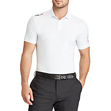 Buy Polo Golf by Ralph Lauren Custom Fit Performance Polo Shirt, Pure White Online at johnlewis.com