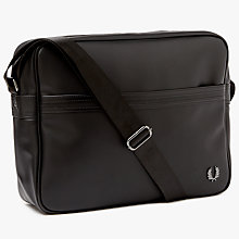 Buy Fred Perry Piqué Texture Shoulder Bag, Black Online at johnlewis.com