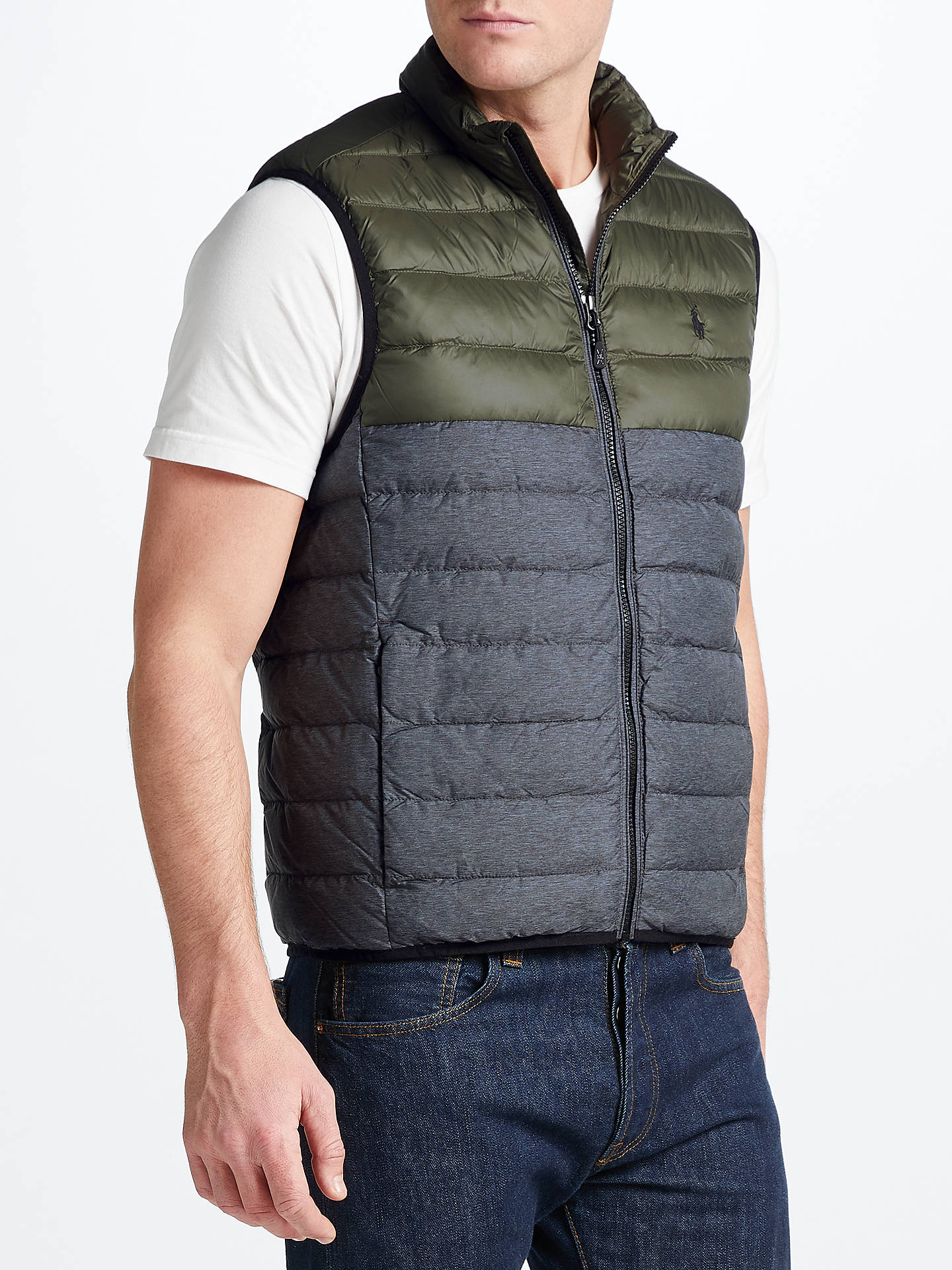 f0542eae Polo Golf by Ralph Lauren Pack Down Fill Gilet at John Lewis & Partners