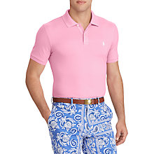 Buy Polo Golf by Ralph Lauren Stretch Mesh Pro Fit Polo Shirt, Beach Pink Online at johnlewis.com
