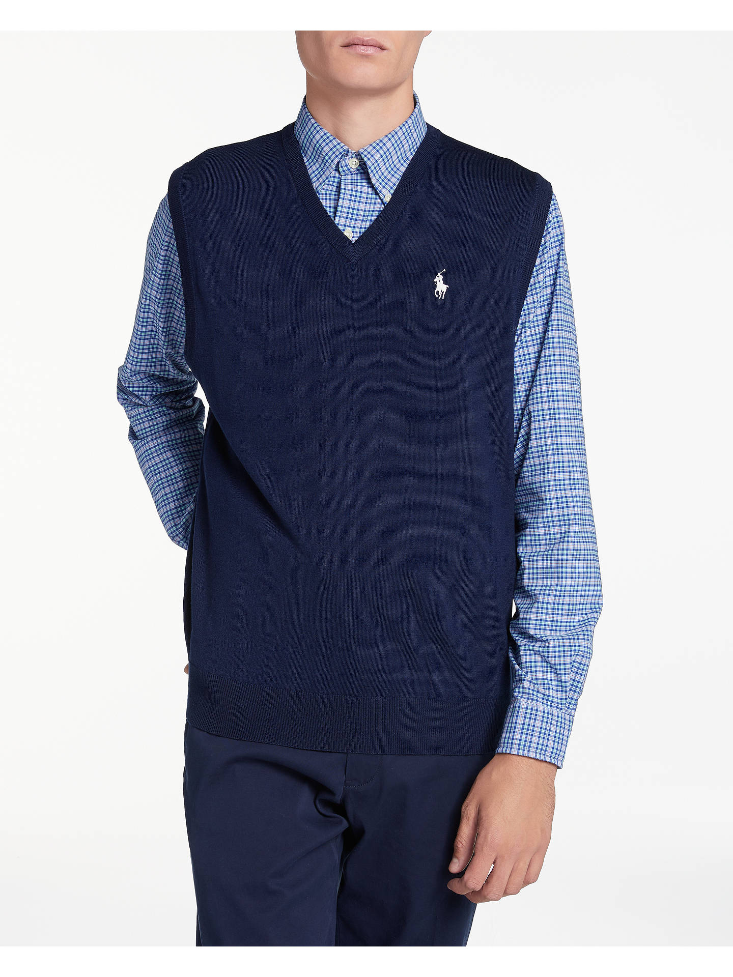 san francisco elegant shape special discount of Polo Golf by Ralph Lauren V-Neck Sleeveless Jumper, French ...