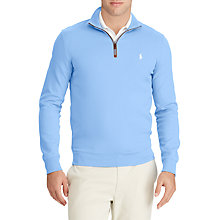 Buy Polo Golf by Ralph Lauren Slim Water-Repellent Jumper, Cabana Blue Online at johnlewis.com