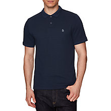 Buy Original Penguin Textured Polo Shirt, Dark Sapphire Online at johnlewis.com