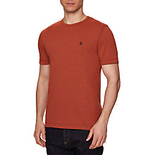 Buy Original Penguin Peached T-Shirt, Red Clay Heather Online at johnlewis.com