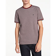 Buy Original Penguin Tri-Colour T-Shirt, Pomegranate Online at johnlewis.com