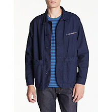 Buy Hawksmill Denim Co Reverse Jacket, Navy Drab Online at johnlewis.com