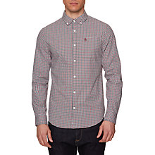 Buy Original Penguin Long Sleeve Stretch Gingham Shirt, Pomegranate Online at johnlewis.com