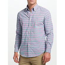 Buy Polo Golf by Ralph Lauren Button Down Performance Poplin Shirt, Pink/Aqua Green Multi Online at johnlewis.com