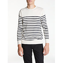 Buy Hawksmill Denim Co Cotton Jumper, Ecru Online at johnlewis.com