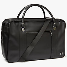 Buy Fred Perry Pique Texture Overnight Bag, Black Online at johnlewis.com