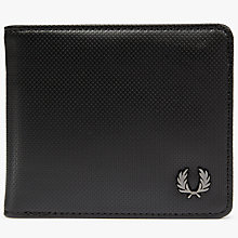 Buy Fred Perry Pique Texture Billfold Wallet, Black Online at johnlewis.com