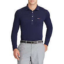 Buy Polo Golf by Ralph Lauren Long Sleeve Polo Top, French Navy Online at johnlewis.com