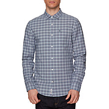 Buy Original Penguin Long Sleeve Mini Plaid Shirt, Vintage Indigo Online at johnlewis.com