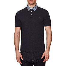 Buy Original Penguin Print Polo, Dark Sapphire Online at johnlewis.com