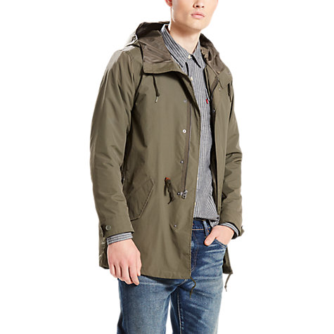 Buy Levi's 3-in-1 Fishtail Parka Jacket, Olive Night | John Lewis