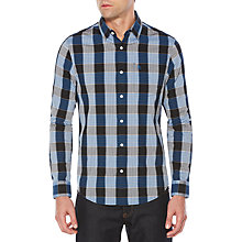 Buy Original Penguin Jaspe Plaid Shirt, Snorkel Blue Online at johnlewis.com