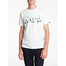 Buy Original Penguin Lost Trees T-Shirt, Bright White Online at johnlewis.com