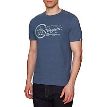 Buy Original Penguin Gradient Logo T-Shirt, Vintage Indigo Heather Online at johnlewis.com