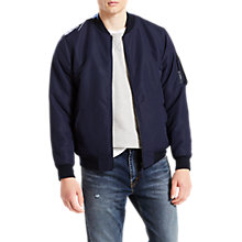 Buy Levi's MA-1 Reversible Bomber Jacket, Nightwatch Blue Online at johnlewis.com