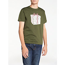 Buy Original Penguin Pete Present T-Shirt, Forest Green Online at johnlewis.com
