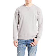 Buy Levi's Original Crew Neck Jersey Top, Grey Heather Online at johnlewis.com