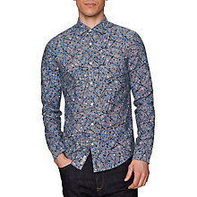 Buy Original Penguin Long Sleeve Splatter Shirt, Snorkel Blue Online at johnlewis.com
