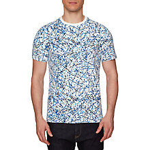 Buy Original Penguin Splatter Print T-Shirt, Bright White Online at johnlewis.com