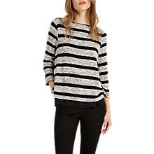 Buy Phase Eight Rae Stripe Top, Grey/Black Online at johnlewis.com