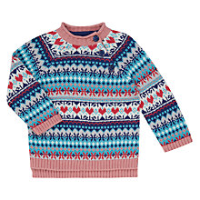 Buy John Lewis Baby Fair Isle Jumper, Multi Online at johnlewis.com