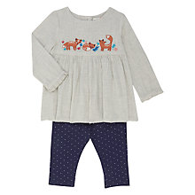 Buy John Lewis Baby Woven Fox Top & Spot Leggings Set, Multi Online at johnlewis.com