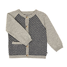 Buy Wheat Baby Herbert Knit Cardigan, Navy Online at johnlewis.com