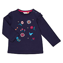 Buy John Lewis Baby Embroidered Sweatshirt, Navy Online at johnlewis.com