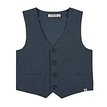 Buy Wheat Baby Front Button Waistcoat, Navy Online at johnlewis.com