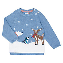Buy John Lewis Baby Polar Friends Jumper, Blue Online at johnlewis.com