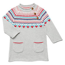 Buy John Lewis Baby Fairisle Knit Dress, Multi Online at johnlewis.com