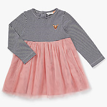 Buy John Lewis Baby Striped Deer Skater Dress, Multi Online at johnlewis.com