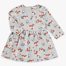 Buy John Lewis Baby Fox All-Over Print Dress, Multi Online at johnlewis.com