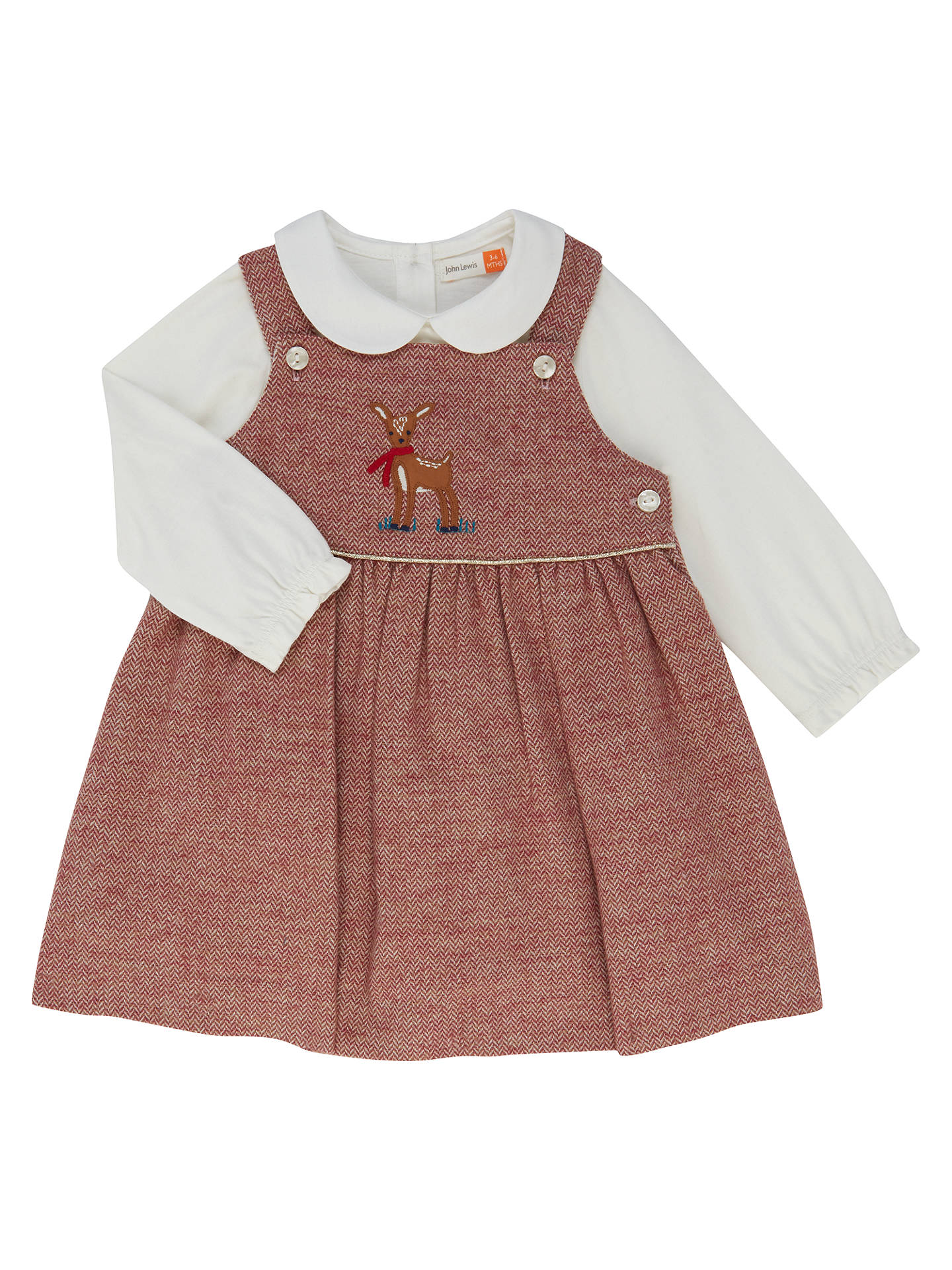 b0f236bd0 John Lewis Baby Herringbone Pinafore Dress and Top Set