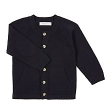 Buy Wheat Baby Knit Cardigan, Navy Online at johnlewis.com