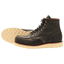 "Buy Redwing Classic 6"" Moc Toe Boots, Charcoal Online at johnlewis.com"