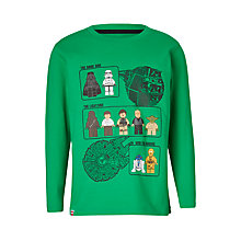 Buy LEGO Children's Star Wars T-Shirt, Green Online at johnlewis.com