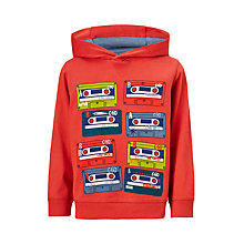 Buy John Lewis Boys' Cassette Print Hoodie, Red Online at johnlewis.com
