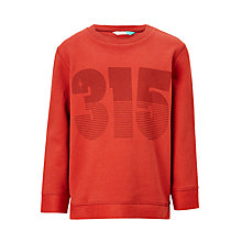 Buy John Lewis Children's Print Sweatshirt, Red Online at johnlewis.com