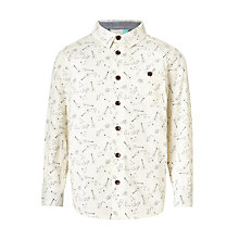 Buy John Lewis Boys' Musical Print Shirt, Cream Online at johnlewis.com