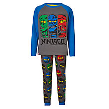 Buy LEGO Ninjago Children's Print Pyjamas, Grey Online at johnlewis.com