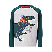 Buy John Lewis Boys' Dinosaur Long Sleeve T-Shirt, Grey Online at johnlewis.com