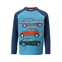 Buy John Lewis Boys' Race Car Raglan T-Shirt, Blue Online at johnlewis.com