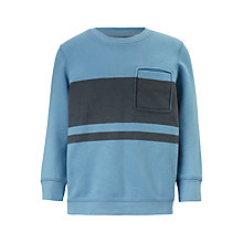 Buy John Lewis Boys' Block Stripe Jumper, Blue Online at johnlewis.com